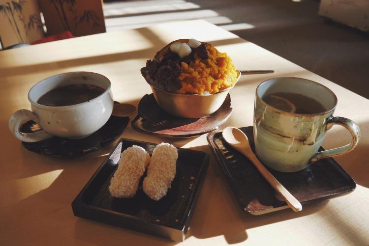 首爾韓屋壽硯山房 茶點 冰