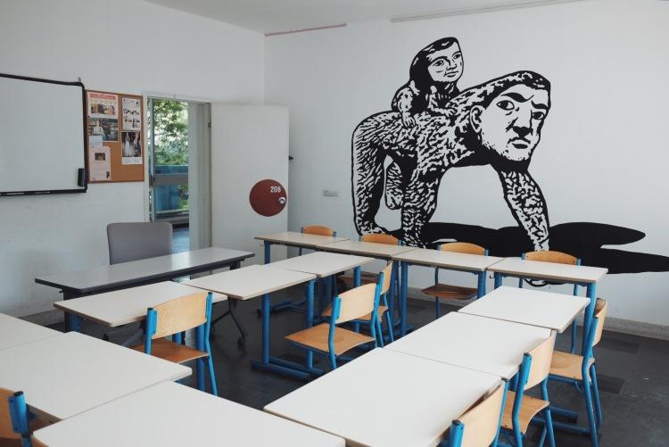 日法學院教室彩繪