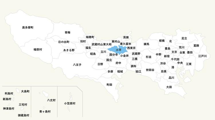 東京小平市_MAP